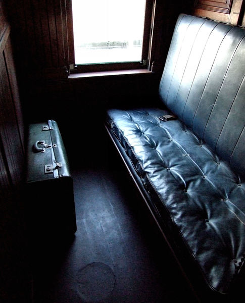 sleeping compartment2: dark compartment in long journey railway sleeping carriage