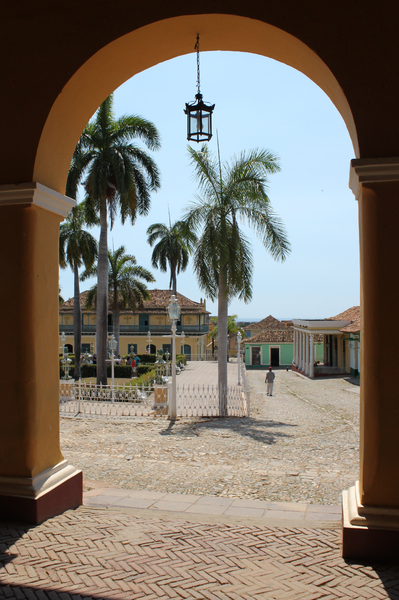 Trinidad Plaza Mayor: The Plaza Mayor square in Trinidad, Cuba