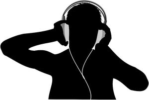 Listen to the music: Two vectors graphics