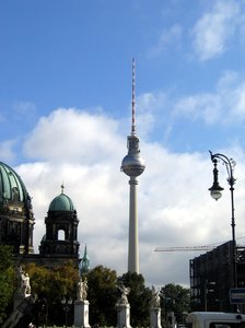 berlin television tower: berlin television tower - embedded in historic buildings
