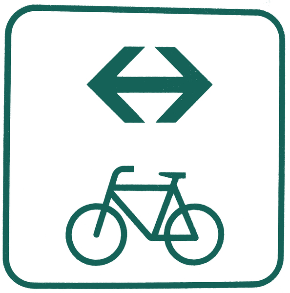 bike route both directions: bike route both directions logo