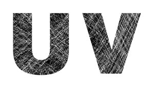 U and V: Distressed Letters.Please visit my stockxpert gallery:http://www.stockxpert.com ..