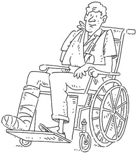Wheelchair: Cartoon illustration of a man in a wheelchair.Please visit my stockxpert gallery:http://www.stockxpert.com ..