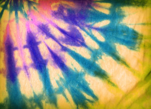 Tie Dyed Colours: Abstract colours on a T-shirt.For a Hi Res version of this image, visit my stockxpert gallery:http://www.stockxpert.com ..