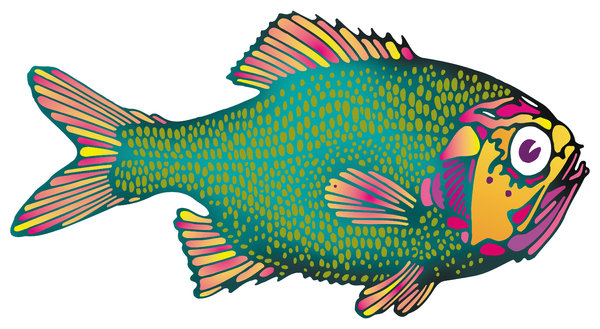 Fish: A colorful fish illustration.Please support my workby visiting the sites wheremy images can be purchased.Please search for 'Billy Alexander'in single quotes atwww.thinkstockphotos.comI also have some stuff atwww.dreamstime.com/Billyruth03_portfolio_pg1Loo