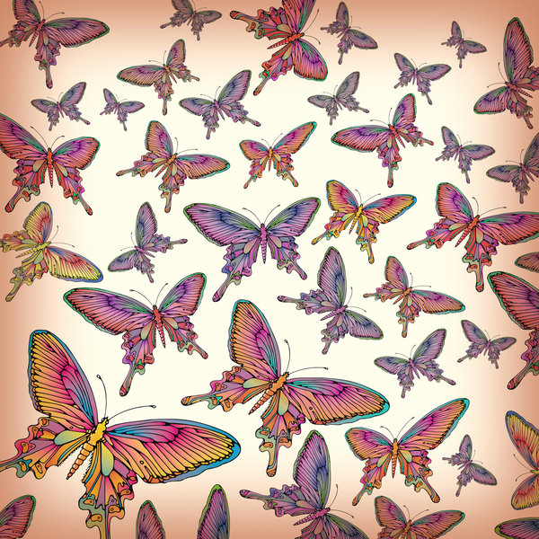 Butterfly Collage: A butterfly wallpaper collage. Visit me at Dreamstime: 