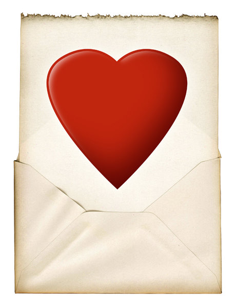 Love Letter: A vintage love note.For a much larger size:http://www.stockxpert.com ..