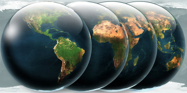 Faces of Earth: Different views , Different Continents.....ONE WORLD!