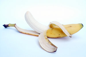 A peeled banana.: This banana has been peeled just for you ...