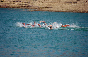 Swimmers in the reservoir: Competition swim in the reservoir