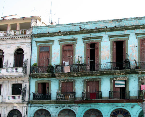 Old Havana Apartments Some In The Downtown Core Of Cuba