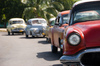 Five Cuban classic cars: Four classic cars in Cuba