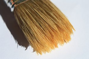 Paintbrush: Macro shot of a paintbrush