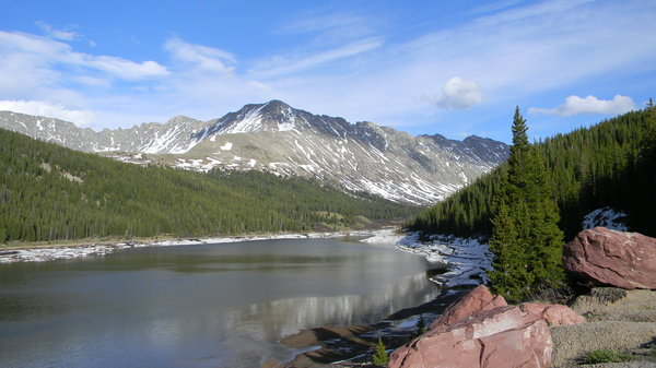 Colorado: A lake that I believe is in the San Isabel National Forest. It's between Leadville and Copper Mountain Ski resort.
