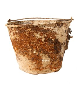 Rust Bucket: An old bucket that was left outside.