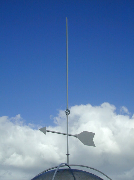 Weathervane: Contemporary-styled weathervane.