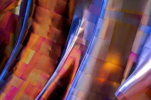 Entrance of EMP, Seattle, WA: This is the underside of an arch near the entrance of the Experience Music Project in Seattle, Washington.