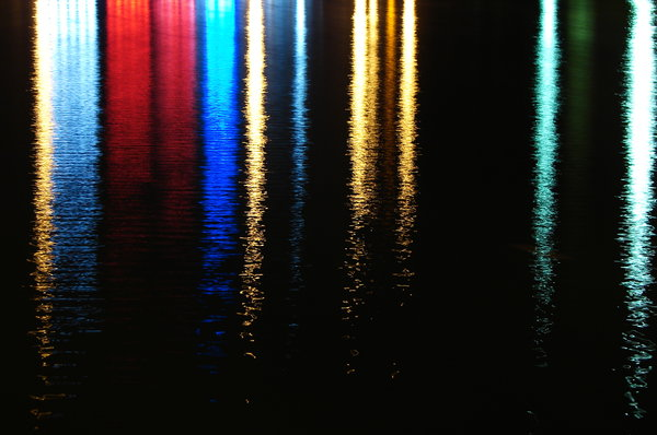 Raining Colors 1: Some water reflections I shot in La Louvière, Belgium