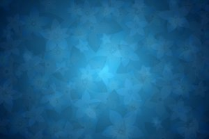 Delicate Floral Background 4: Delicate blue background with two different flowers