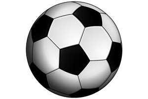 Classic Soccer Ball 1: Classic black and white ball for the football (soccer).