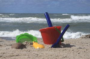 Beach Toys: Childrens toys at the beach