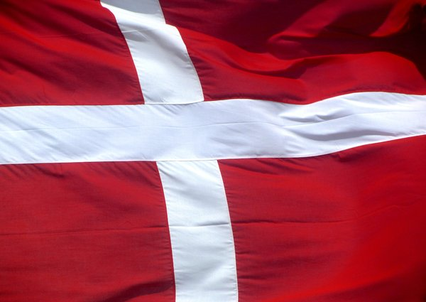 Danish Flag: Danish Flag in the wind