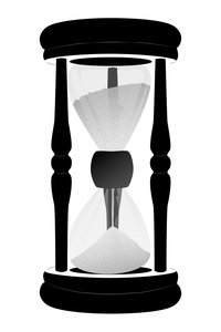 Hour Glass: glass, sand and wood made with vectors