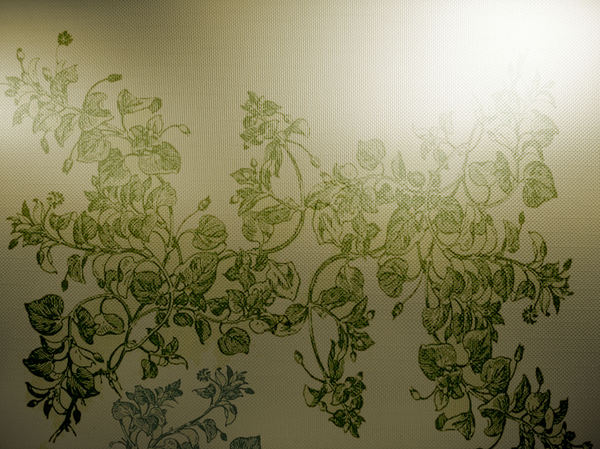 Floral background: Botanical drawing was used on several layers