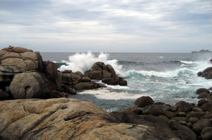 wild sea: coast of the north of Spain