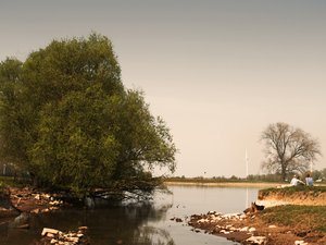 river: a sunny day at the river, de IJssel, the Netherlands.