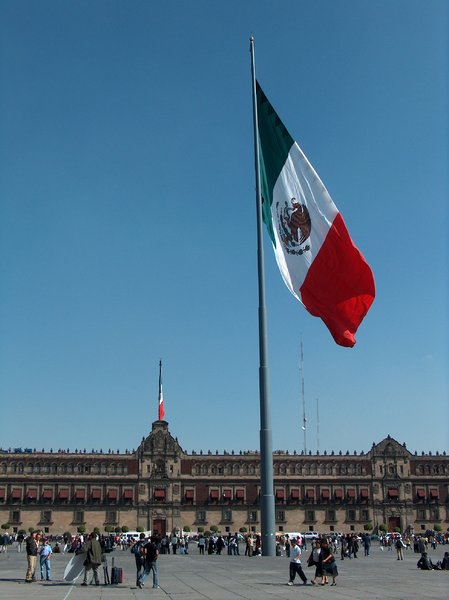 Mexico City scenes 2: Palacio Nacional at Zocalo, Mexico City. This used to be the president's office. Actually, the president works in Los Pinos