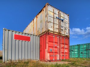 Containers - HDR: Ship containers sitting in a harbour area - just waiting for some action
