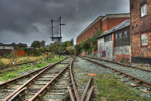 Abandoned Railway.: In Oswestry.