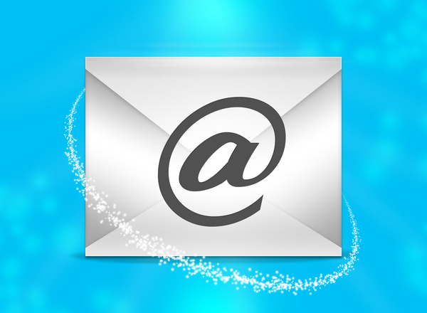 Email message: A vector envelope representing an e-mail message.