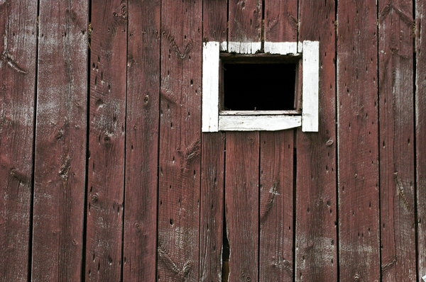 Barn Window 2: A Barn Window Open and off centre.