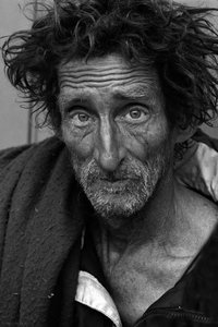 Homeless Portraiture 03: Portrait of homeless man