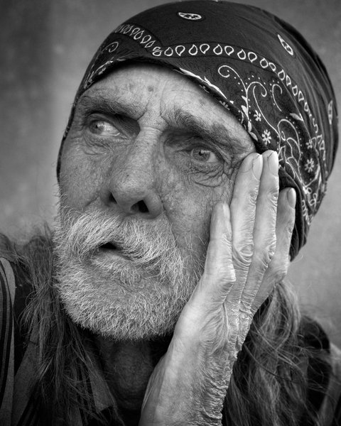 Homeless Portraiture: http://www.morguefile.com ..   Link to another image of Mike in color and higher resolution. For folks who like making large prints rez is 4200X6300 pixels, Filesize 13.63 MB