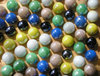 Marbles: Colourful marbles on the board