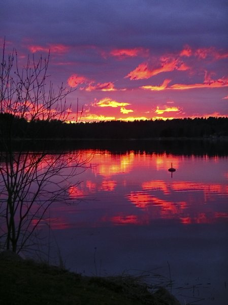 Spring sunset: Sunset in Swedish archipelago
