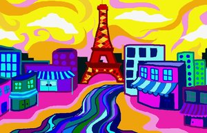 Paris Colors: visit my site ozaidesigns.com for more of my free illustrations!Paris and the river that i dont know how to pronounce/spell. **If you are using my designs for online use, i don't want credit... but I would love to see how they are used! So send me a link!