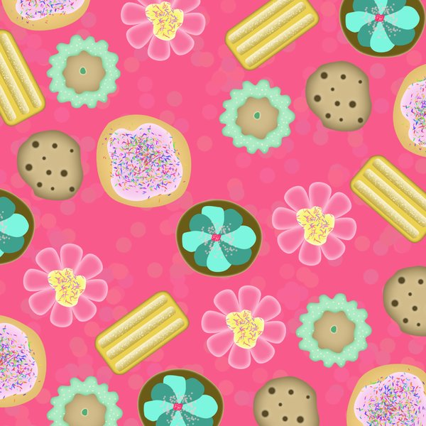 Cookie background!: visit my site ozaidesigns.com for more of my free illustrations!YUM! Delicious cookie background.**If you are using my designs for online use, i don't want credit... but I would love to see how they are used! So send me a link!**