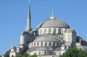 Blue Mosque: The centre dome of the Blue mosque in Istanbul, Turkey