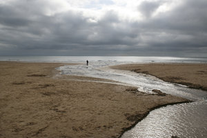 Lonely: A beach on the Gower, Wales, in autumn.