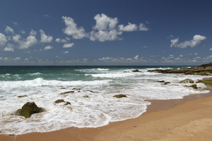 Summer waves: Waves on the shore of southern Spain.