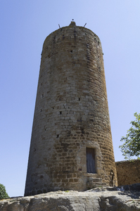 Watchtower: A watchtower in a village in Catalunya, Spain.