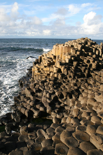 Giant's Causeway 2: Hexagonal basalt columns of the Giant's Causeway, Northern Ireland