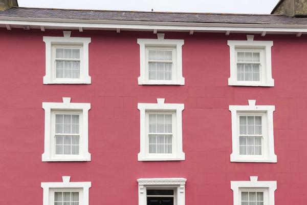 Pink House A Rose In Gwynedd Wales