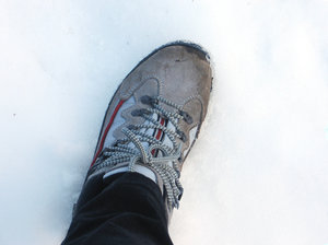 walking on snow: none