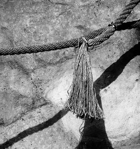 Rope: Just a old rope in black and white.Please mail me or comment this photo if you decide to use it. Thanks!I would be extremely happy to see the final work even if you think it is nothing special! For me it is (and for my portfolio)!