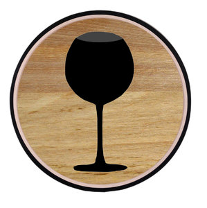 Wine: Button. Glass of wine.